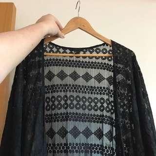 H&M Lace Kimono Outerwear