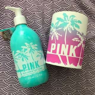*Repriced PINK BY VICTORIA'S SECRET Palm Leaves & Tiare Flower Fresh Glow Lotion