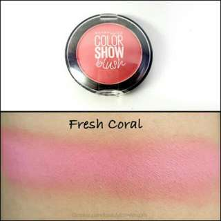 MAYBELLINE COLOR SHOW BLUSH -FRESH CORAL