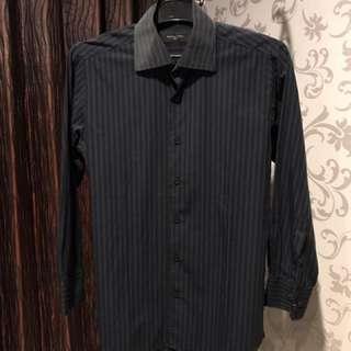 The Executive Premium Black-Blue Shirt