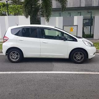 Beautiful White Honda Fit For Uber Grabcar Rental