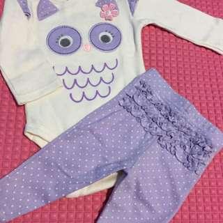 [Preloved] BABIES R US - Baby Set (2 Jumper, 1 Legging and 1 Sleepsuit) + Bonus 1 Jumper