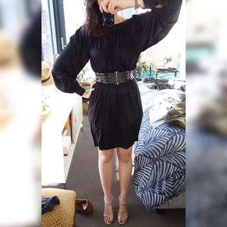 Scanlan Theodore Dress Size 8/10 & Sandro Belt, Gently worn, Great Condition