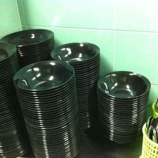 Melamine Plates & Bowls + Fork & Spoon (120 Pieces Each)