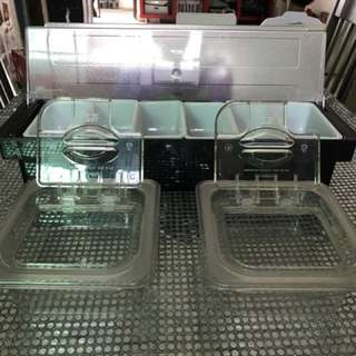 Condiments Containers For Canteen Stall