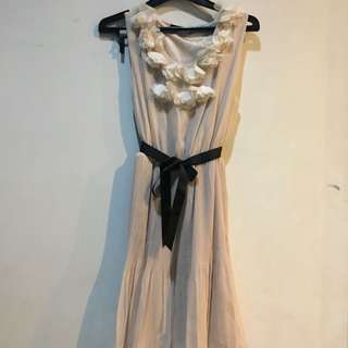 Icons Dress Cream Color All Size