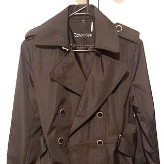 Calvin Klein Double Breasted Trench, Brand New