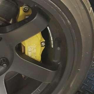 Drift racing mini 4 pot brake kit