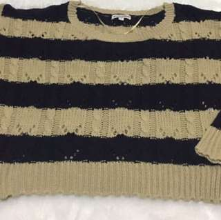 Colorbox Sweater Navy-Cream Strip