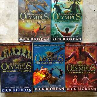 Awards Selling Novels-The Heros Of Olympus