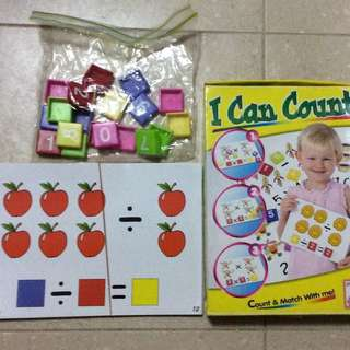 I Can Count Tiles And Board Game For Kids