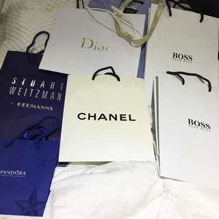 Designer Shopping Bags CHANEL CHRISTIAN DIOR HUGO BOSS STUART WEITZMAN PANDORA