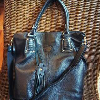 Price drop! Tod's Large Black Leather Tote Bag