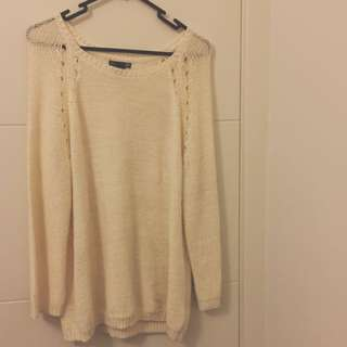 White Cream Sweater