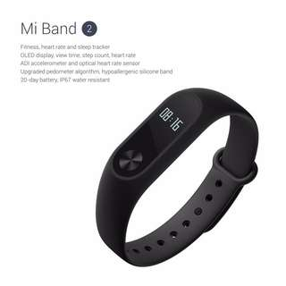 AUTHENTIC Xiaomi Mi Band 2 Fitness Tracker & Heart Rate Sensor