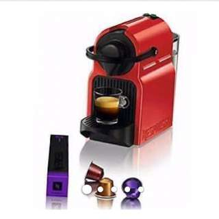 Brand New Nespresso Inissia & Aerocinno (Red/Coral)