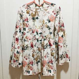 SALE!!! BRAND NEW / BN Floral Free Sized Peplum Babydoll Top