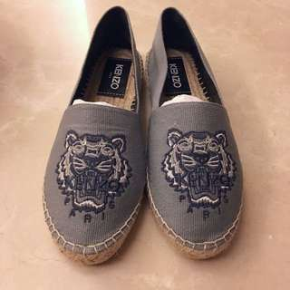 Kenzo Dove Grey Blue Espadrilles Shoes Flats 名牌 灰藍色 草鞋 平底鞋