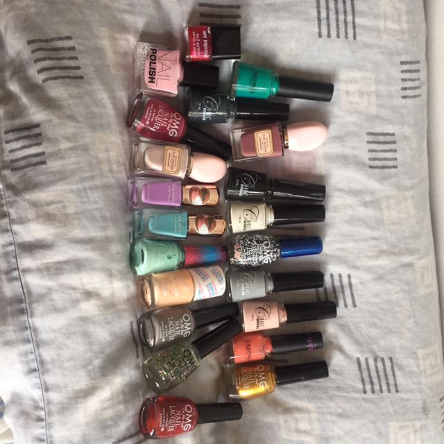 21 Assorted Nail Polishes