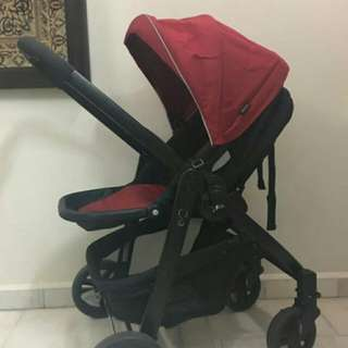 Graco Evo Travel System + Junior Baby Car Seat plus the Junior Baby Base adapter