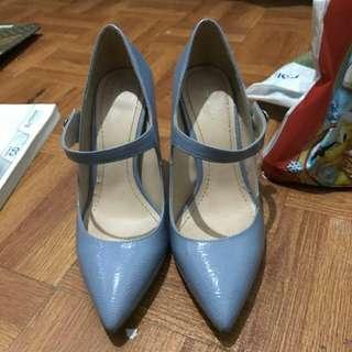 Zara Blue Heels