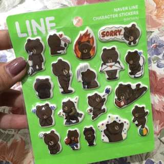 Sticker Line Edisi Brown