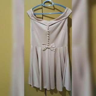 [QUICK SALE] Sabrina Dress Nude