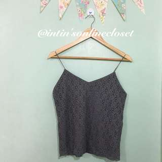 Lace Cami In Gray