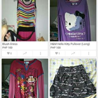Clothes For Php 50 &100