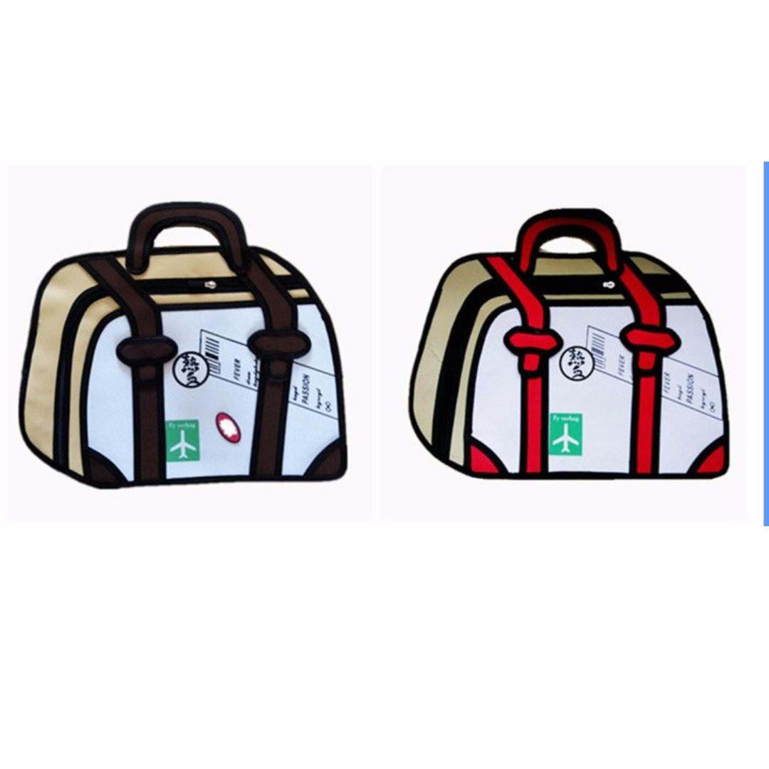 2D漫畫背包 旅行包 手提包 超商免運