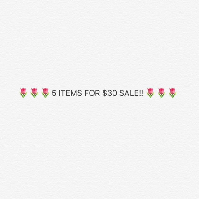 5 Items For $30! 🌷