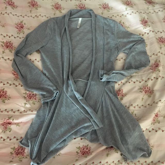 灰色棉質外套