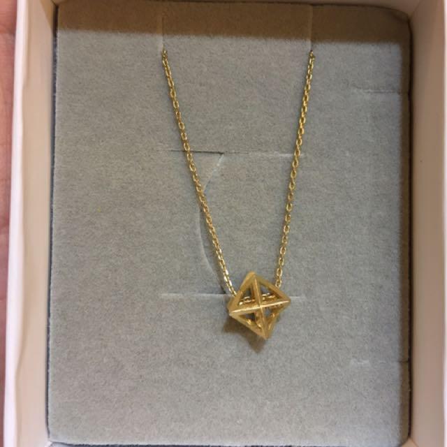韓系立體星星金色項鍊