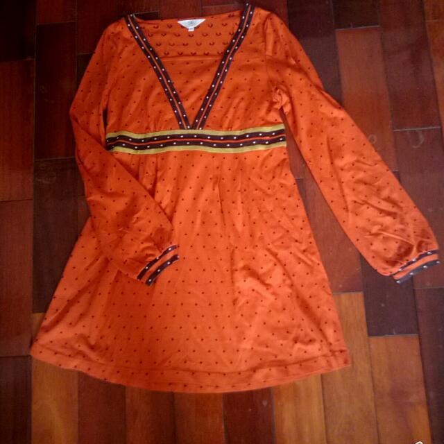 專櫃 民族風棉洋裝