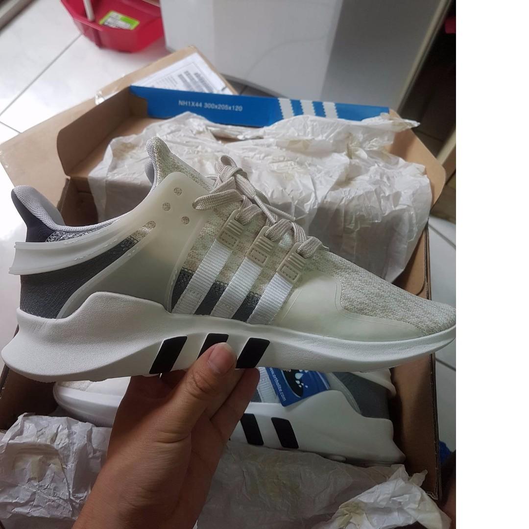 便宜售,Adidas Originals EQT Support ADV 米白 雪花白 BA7593 男女US9=26cm