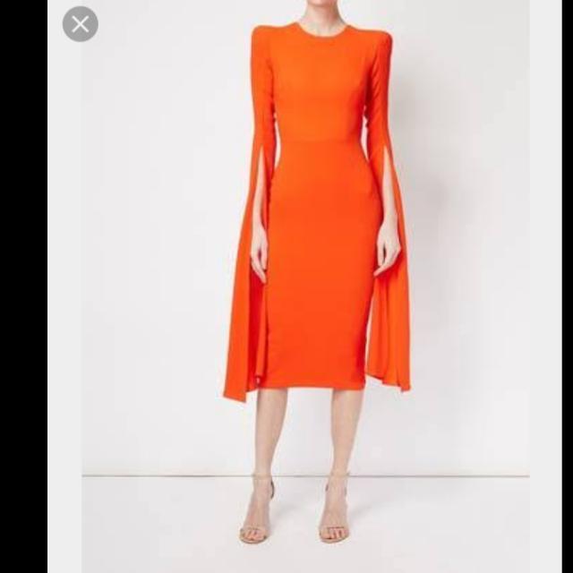 Alex Perry Chole Dress Tangerine