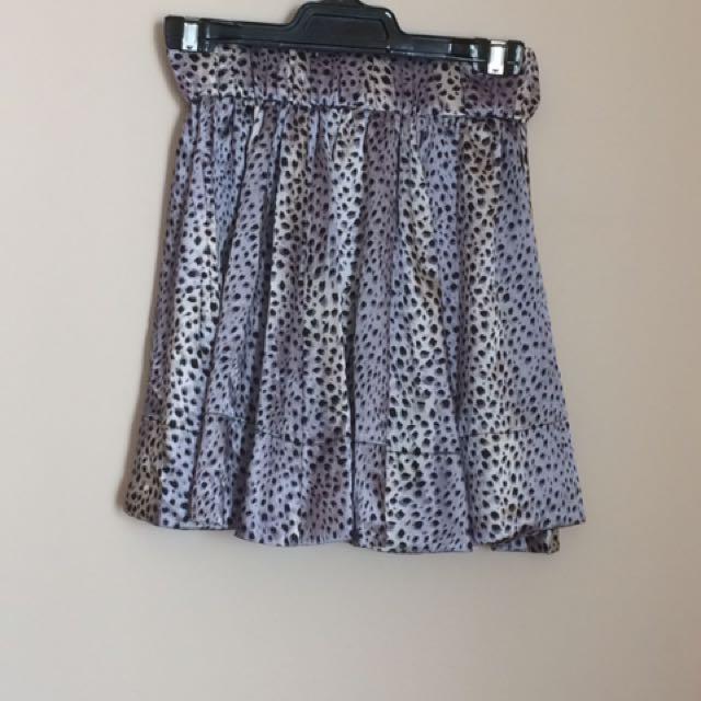 As New Purple Zebra Print Skirt