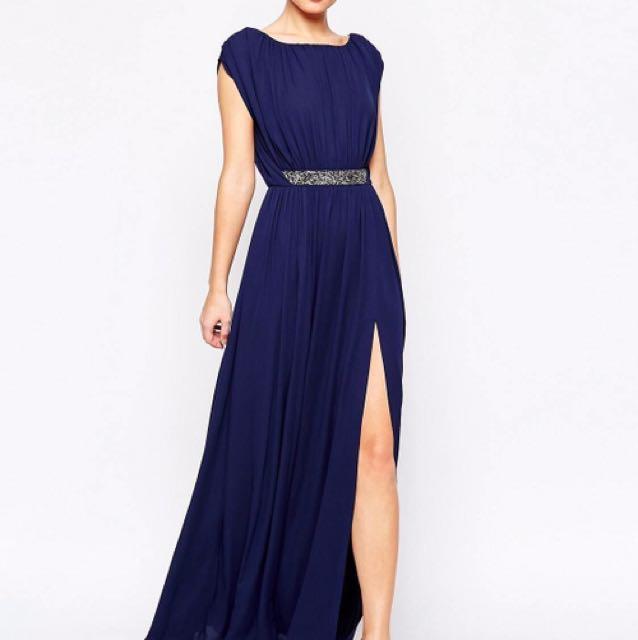 Brand New ASOS Embellished Waist Maxi Dress Size 8 UK/ AU