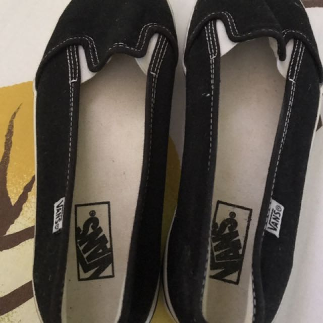 Authentic Black Vans (slip-on)
