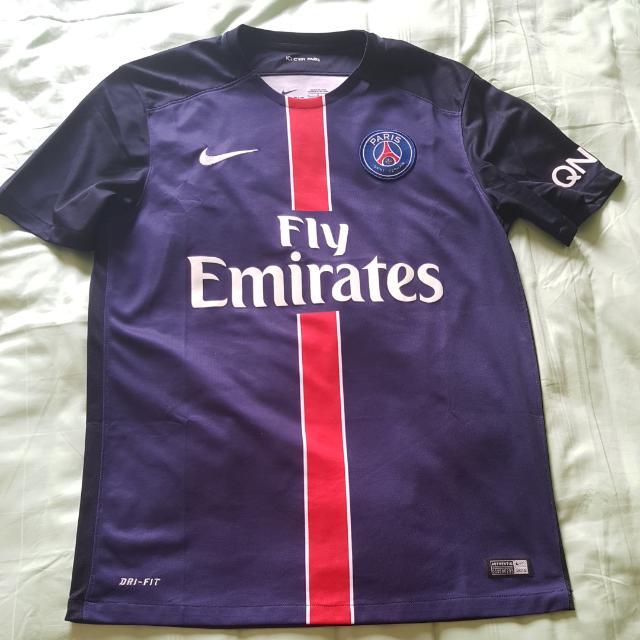 66e957471 Authentic Nike Paris Saint Germain PSG Home Football Soccer Jersey ...