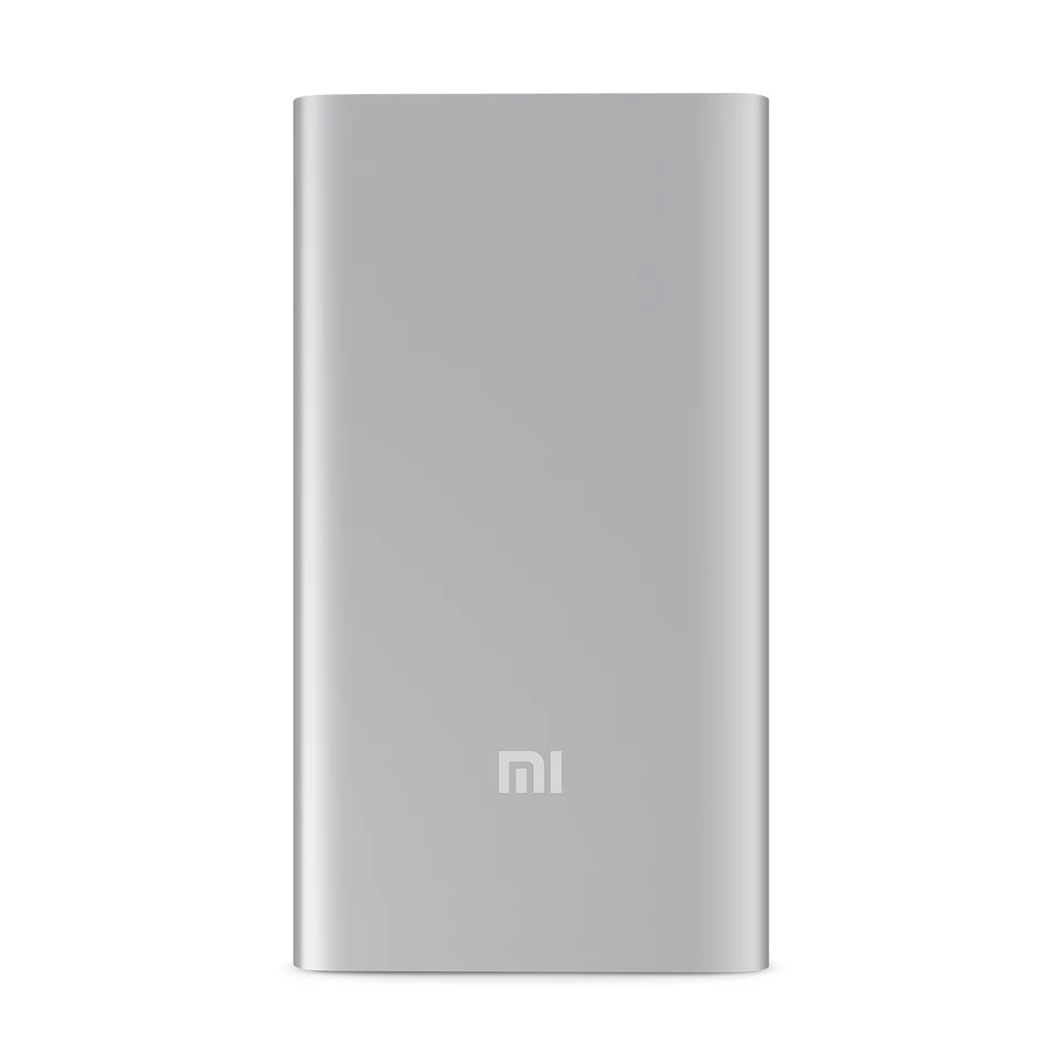 AUTHENTIC Xiaomi 5,000 mAh Powerbank (Silver)