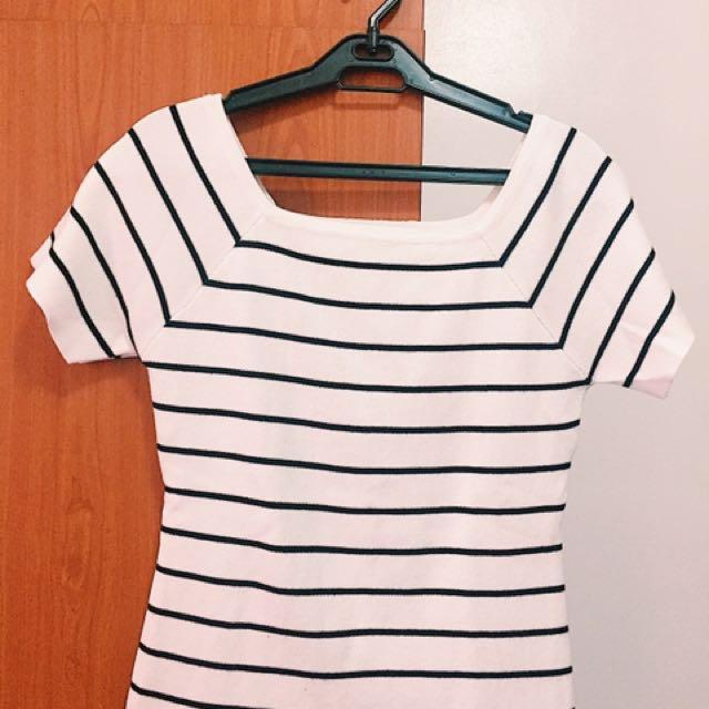 Bayo White Stripes Top