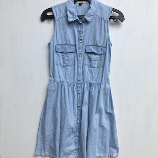 Bershka Soft Denim Dress