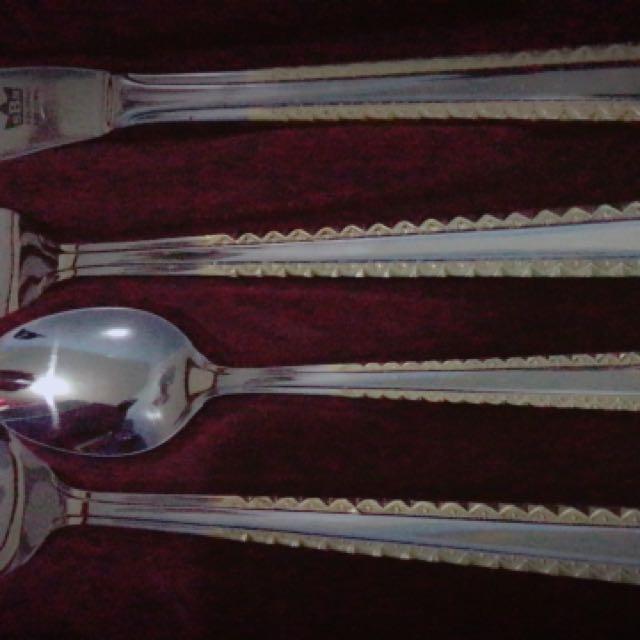 Bestecke Solingen Gold Plated Cutlery Set, Kitchen & Appliances on ...