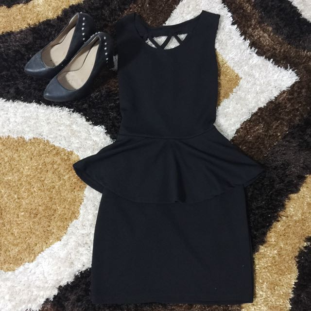Black Casual Nightdress