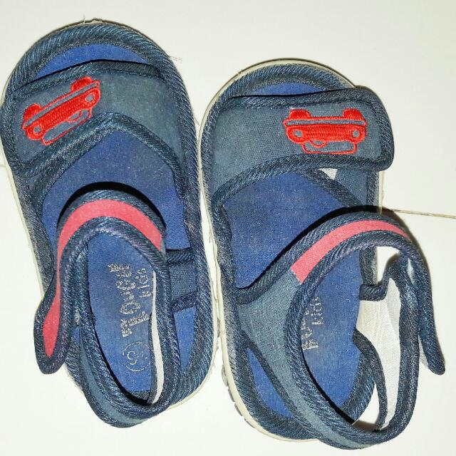 Blue Car Shoes For Baby Boys
