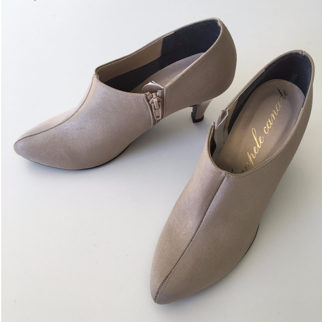 Brand new! Ankle Boots in Light Gold from Japan