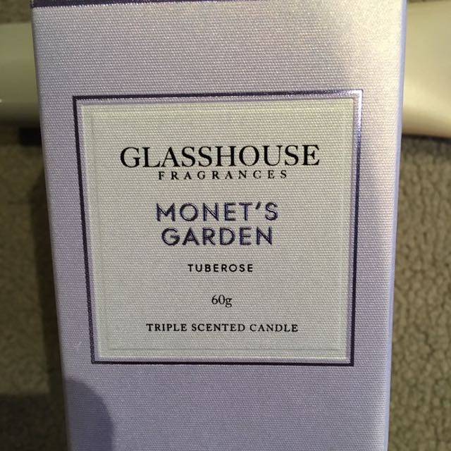 Brand New Glasshouse 60g Candle - Monet's Garden