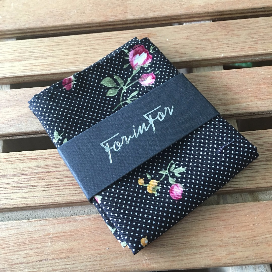 BRAND NEW! Pocket Squares Flowers on Polka Dots