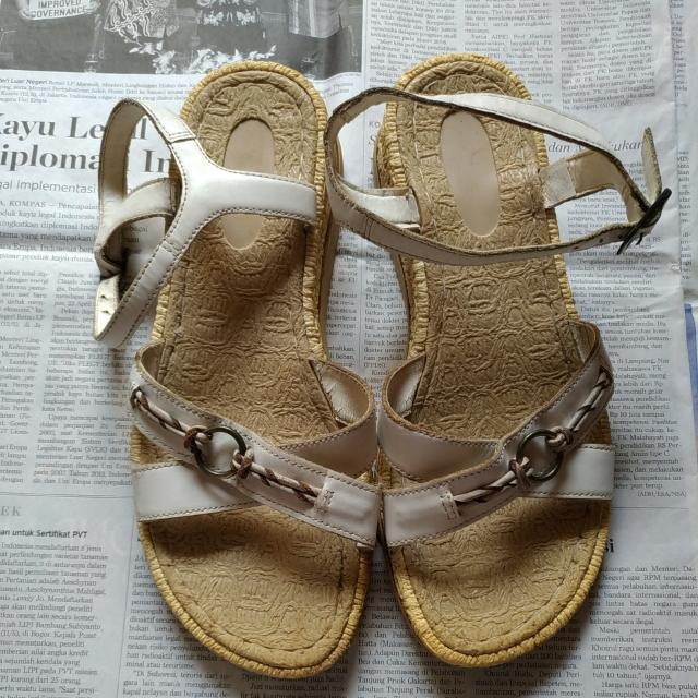 Brazillian Off-white Leather Sandals